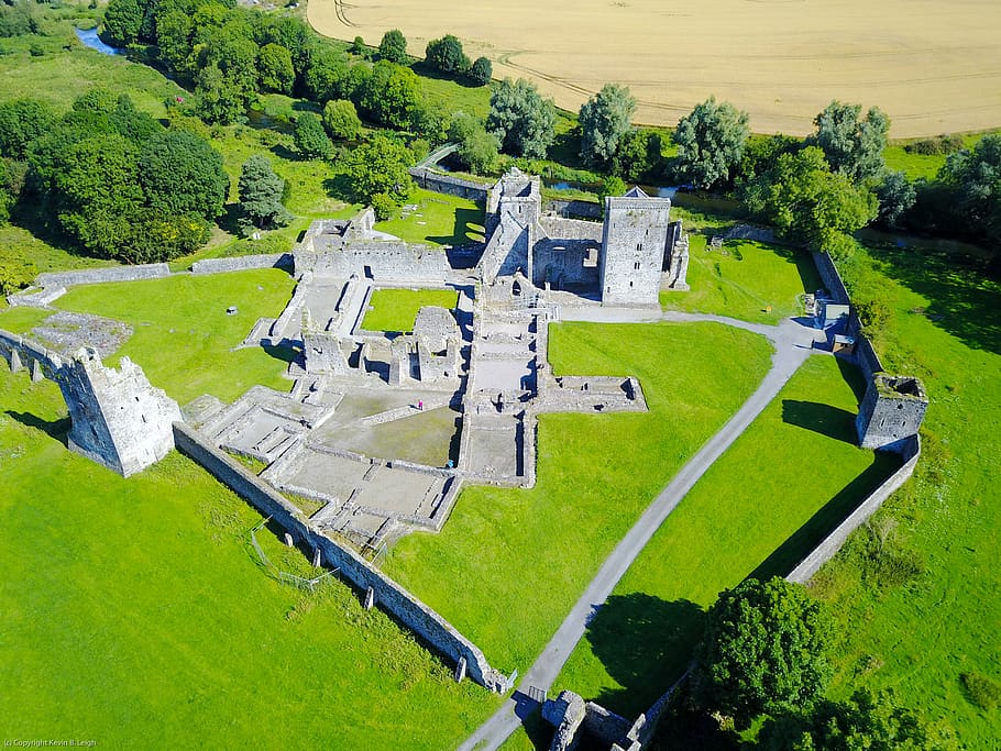 A stunning view of Kells Priory, one of the best historic places in Ireland to visit for free.
