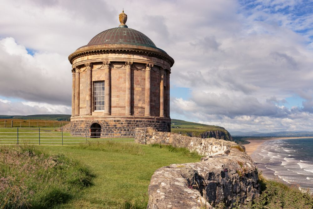 Mussenden Temple has amazing views over the surrounding area.