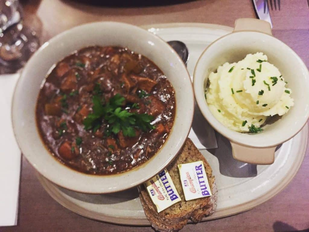 Old Mill Restaurant – Irish stew in Dublin's famous cultural quarter