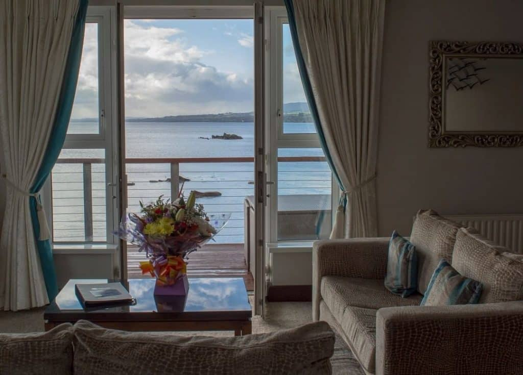 The Redcastle is one of the best hotels in Ireland with a stunning sea view.