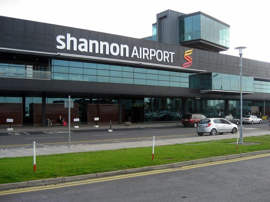 The Shannon Airport, named after our Irish name of the week.