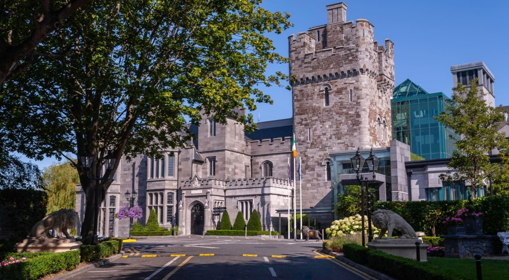 Clontarf Castle is full of atmosphere and another of the top castles for weddings in Ireland.