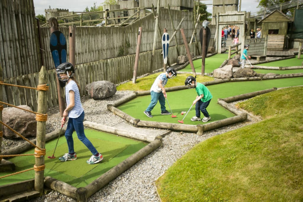 Another of the top best places for crazy golf in Dublin is Fort Lucan.