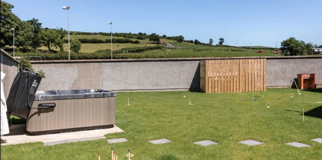 Heather Cottage in Co. Down is another of the top scenic Airbnbs with a hot tub in Ireland.