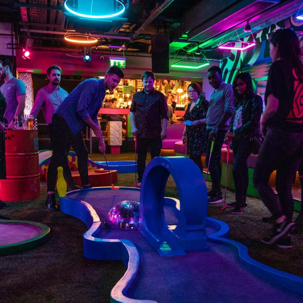 Jam Park is another of the best places for crazy golf in Dublin.