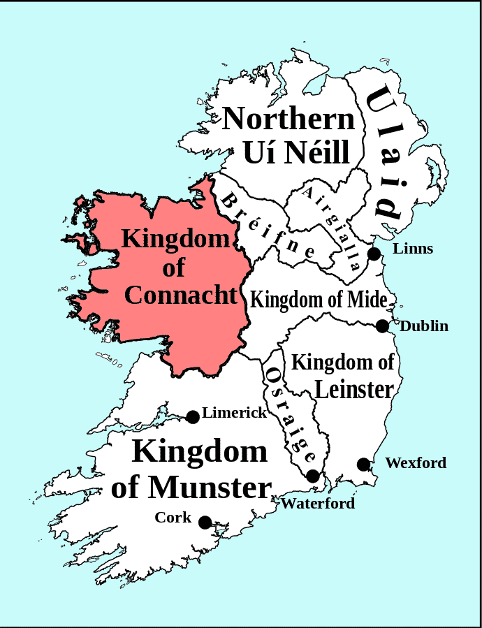 The Irish name Cathal was common throughout the kingdom of Connacht.