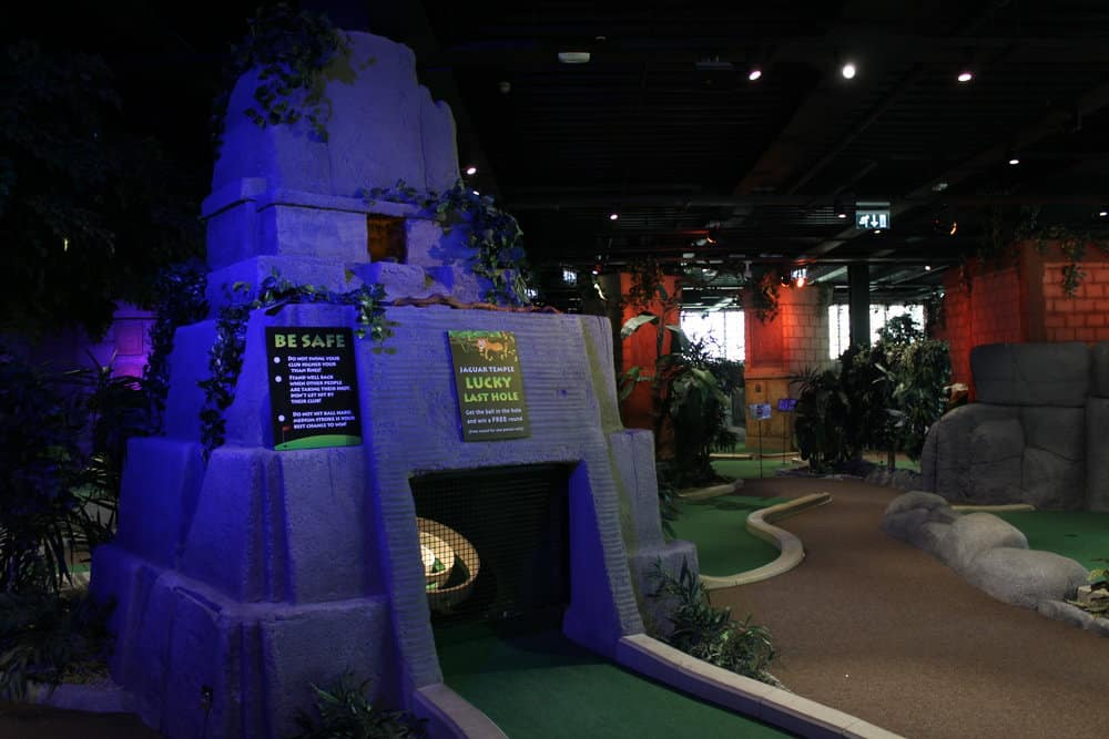 The Rainforest Adventure Golf is one of the best places for crazy golf in Dublin.