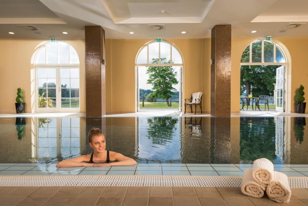 The Dream Infinity Pool at the Lough Erne Resort.