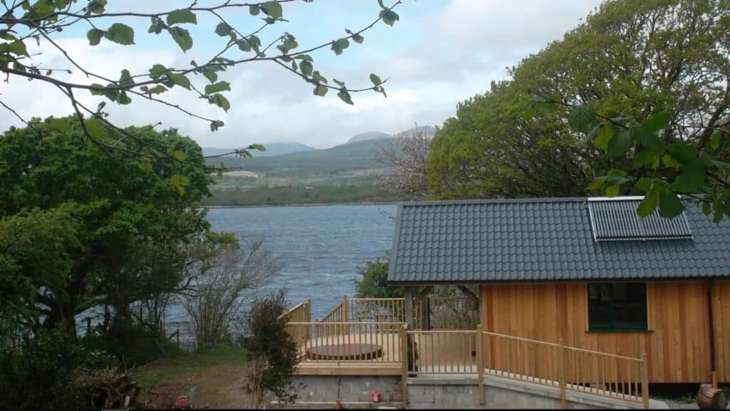 Tig Admaid is one of the top scenic Airbnbs with a hot tub in Ireland.