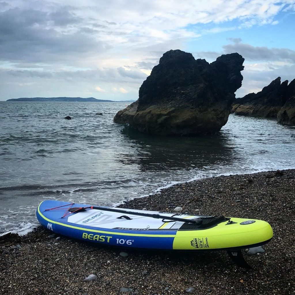 Tower Bay Beach is another of the top paddleboarding spots around Dublin.