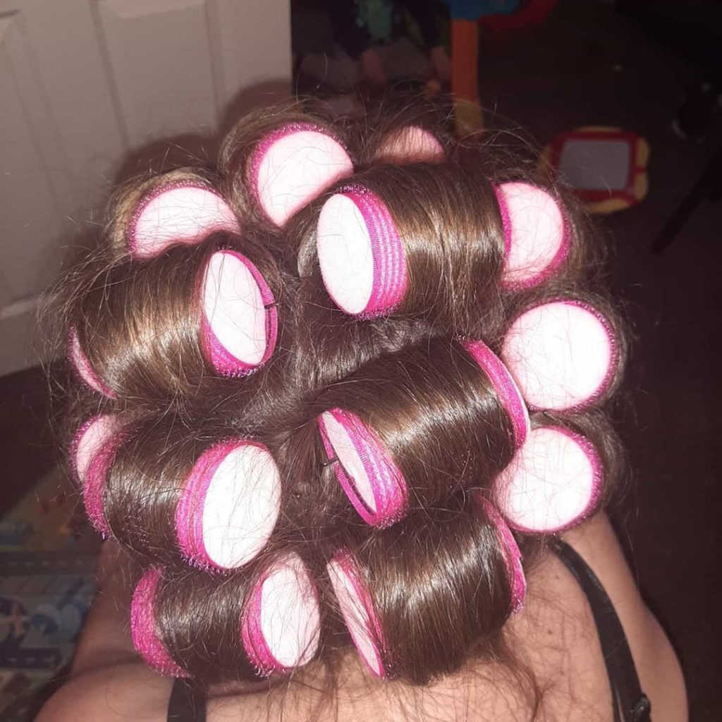 Sleeping with rollers in your hair was hard.