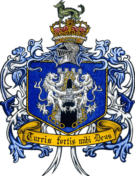 Here you can see the blue family crest for the Irish surname Kelly.
