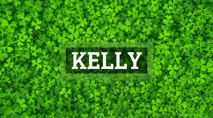 The Irish surname Kelly has many variations but we'll stick to the spelling of Kelly.