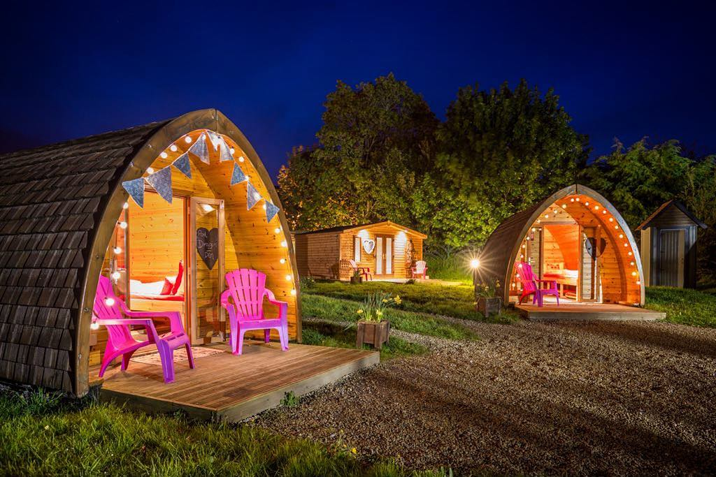 Pod Umna Village in Galway is another of the top incredible and unique glamping sites in Ireland.