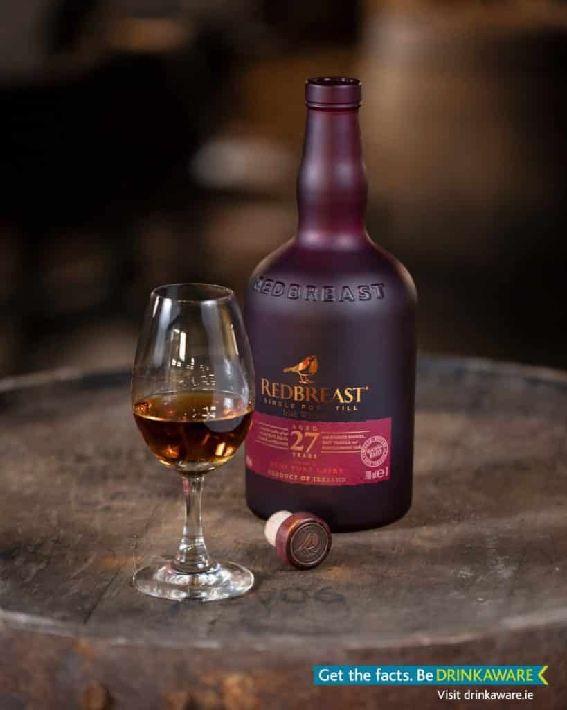 Another of the most expensive Irish whiskies is Rebreast 27 year old.
