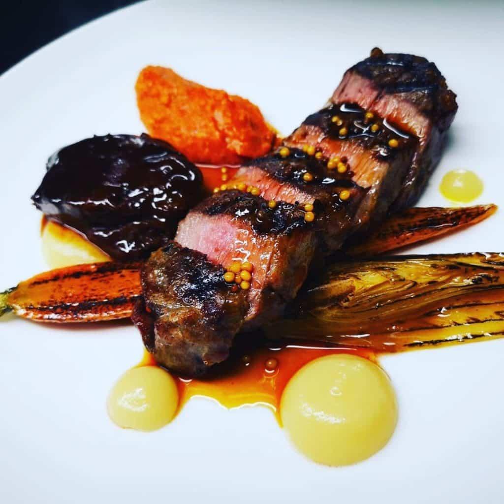 Volpe Nera serves refined Mediterranean cuisine.