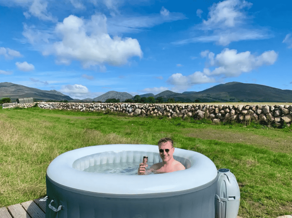 Willowtree Glamping is another of the top sights you can see from the heat of a tub.