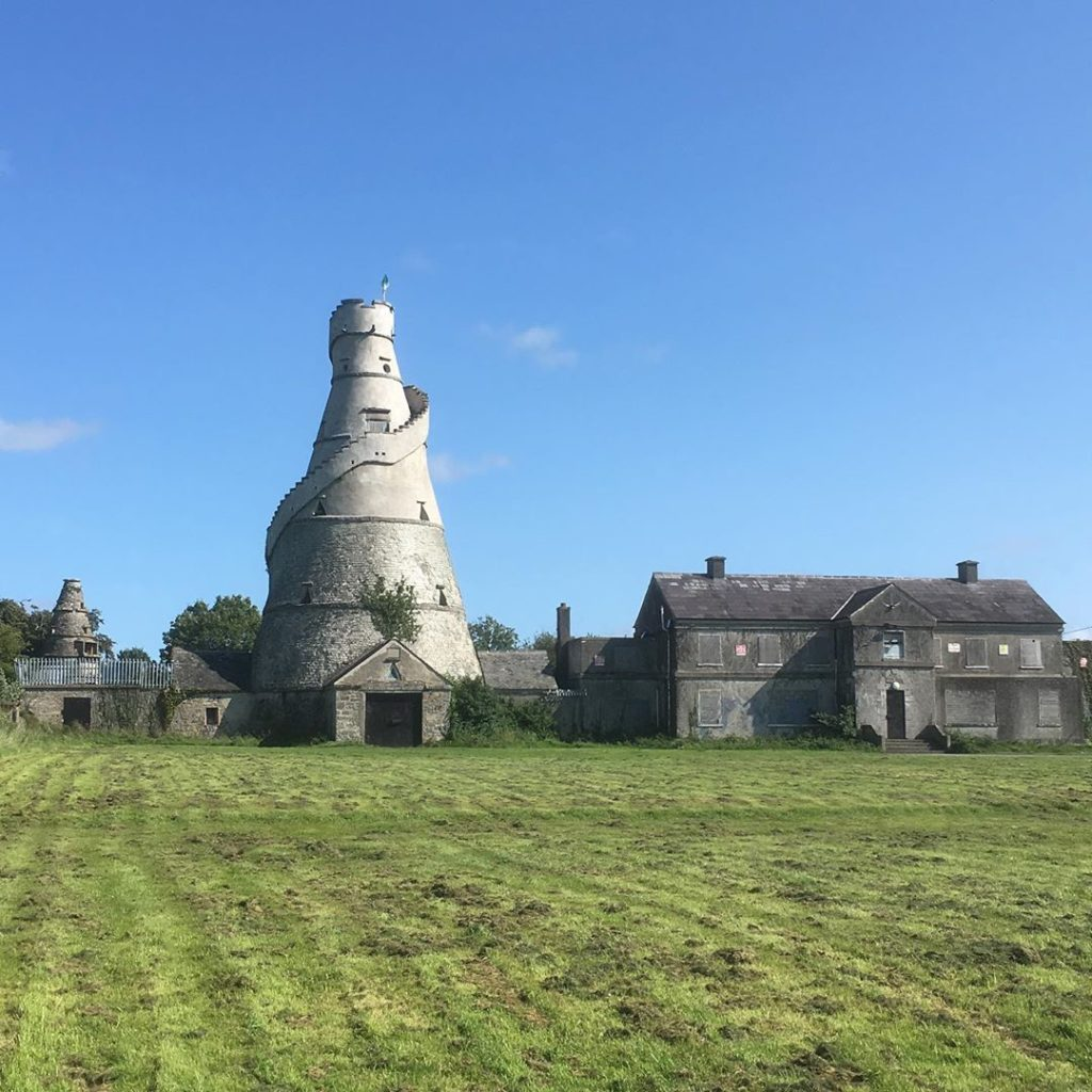 The Wonderful Barn in County Kildare is shaped like a corkscrew.