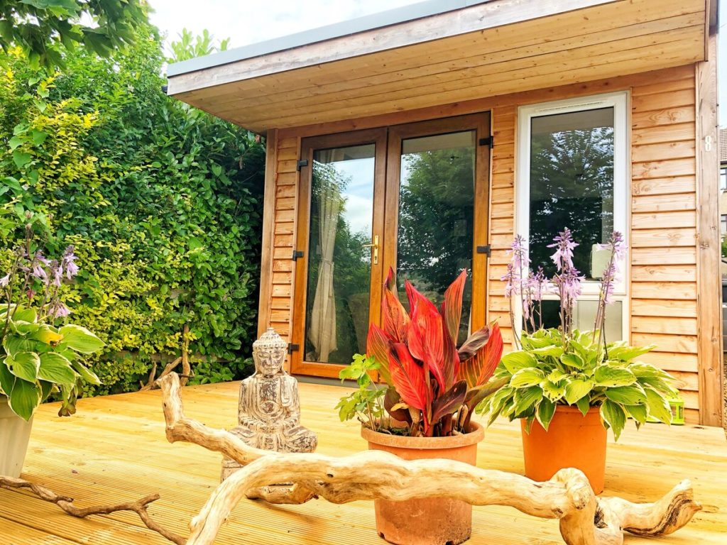 The Cabin is a cosy wooden home with great views.