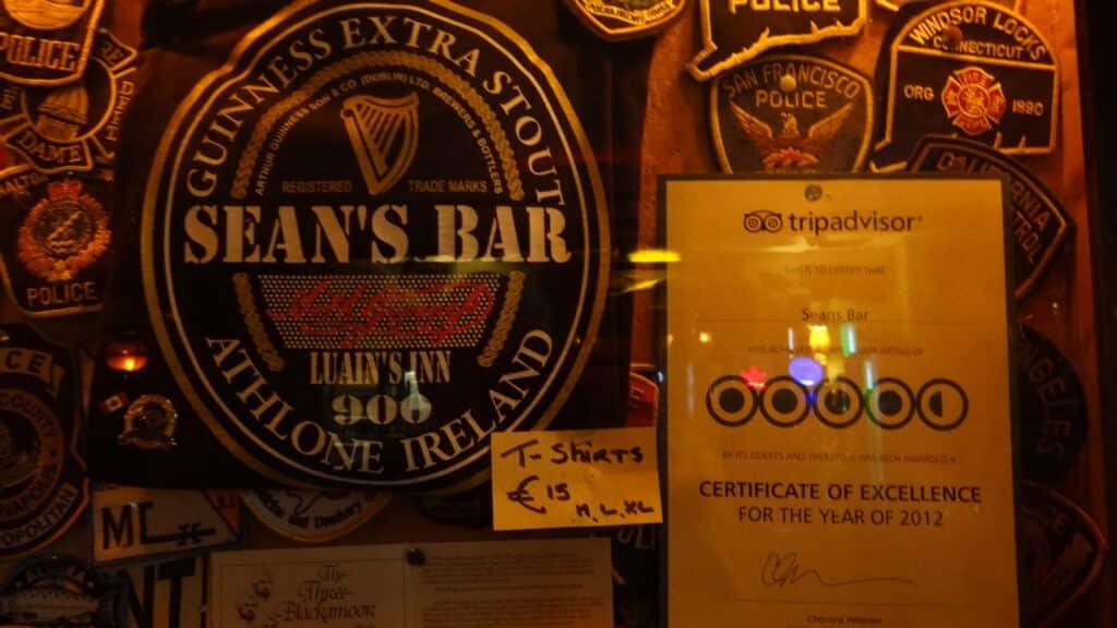 Sean's Bar is a popular tourist attraction.