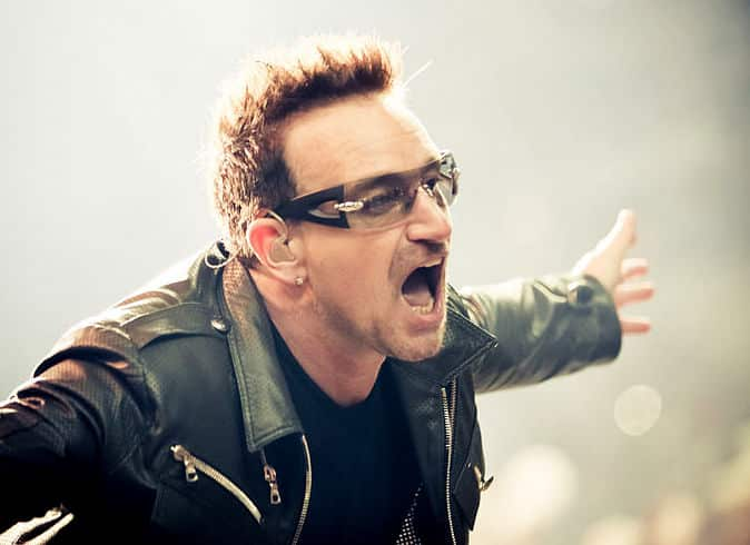 One of the most famous Irish men of all time is Bono.