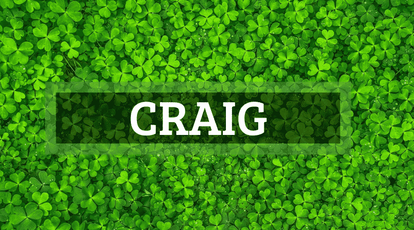 Craig is another of the top Irish surnames that are actually Scottish.