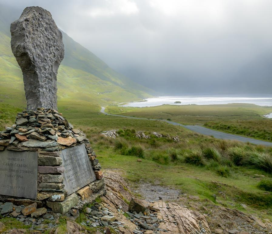 The Famine Walk in County Mayo is a reminder of Ireland's harrowing past.