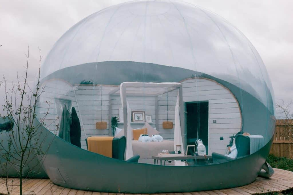 Number one on our list of the most unique Airbnbs in Northern Ireland is Foxborough Bubble Dome.