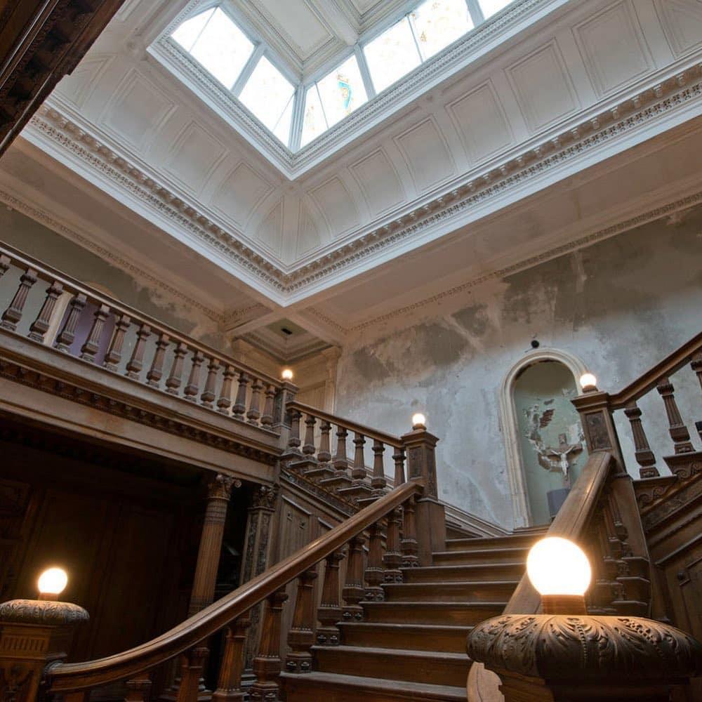 The staircase at Loftus Hall.