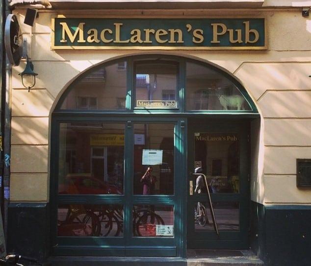 One of the best Irish pubs in Berlin is MacLaren's Pub.
