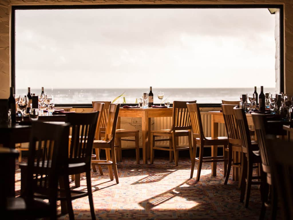 Another of the top restaurants with a view in Northern Ireland is The Percy French in Newcastle.