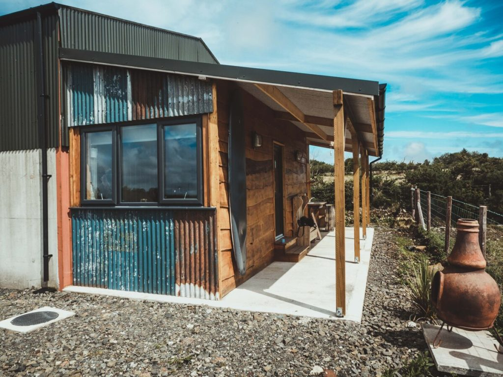 The Surfer's Shack is a former shipping container.