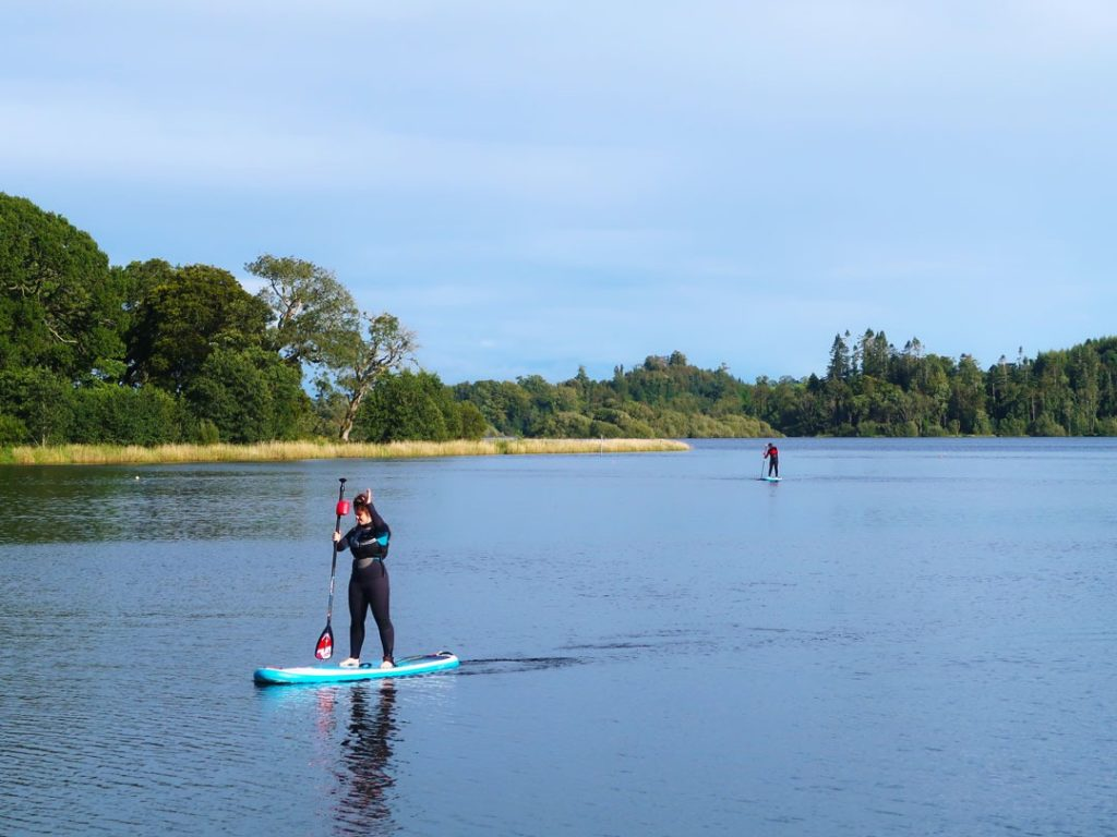 Try some paddleboarding at Lake Muckno as part of Castleblayney Outdoor Adventure Centre.