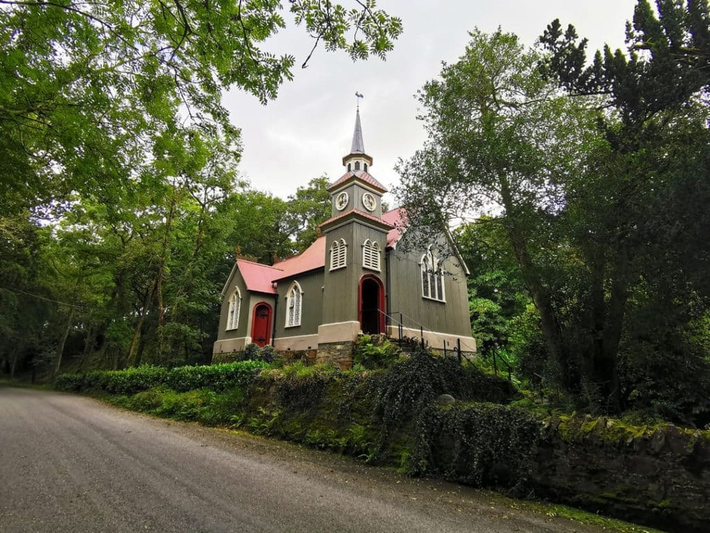 The tin church at Laragh is well worth a visit in the county.