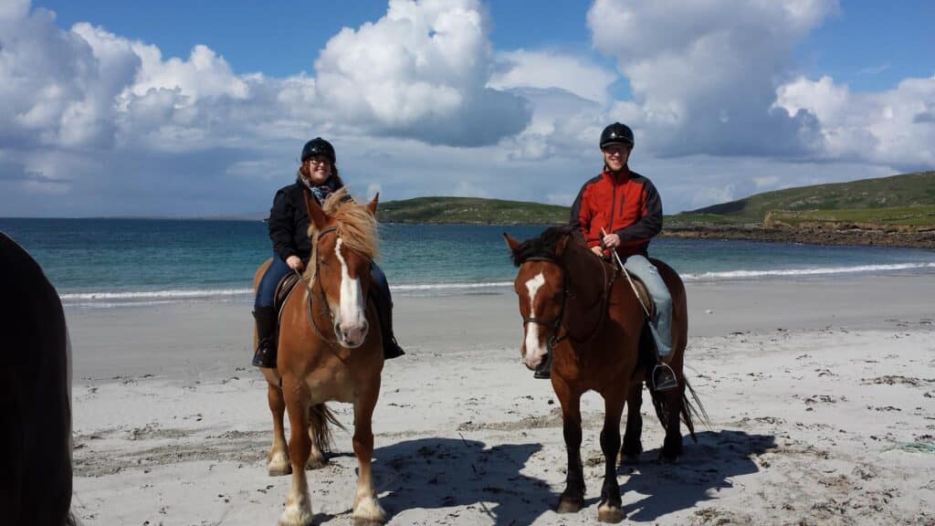 Private beach horse riding is one of the most unique things to do in Galway.