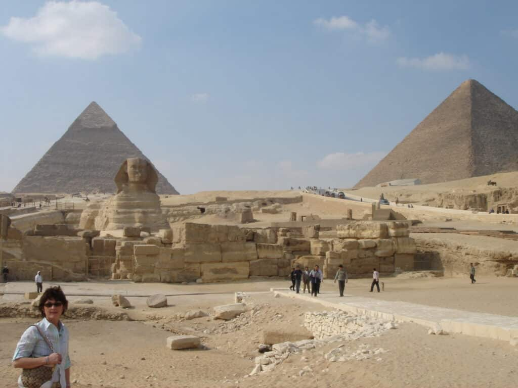 Our bucket list ideas includes admiring the pyramids in Egypt.