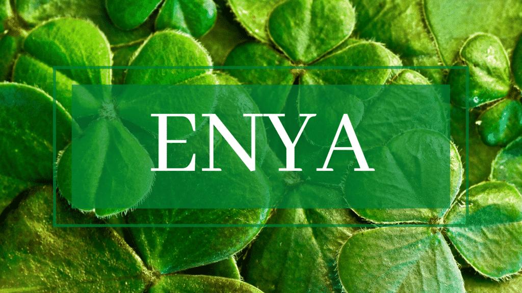 Variations of the Irish name Enya.