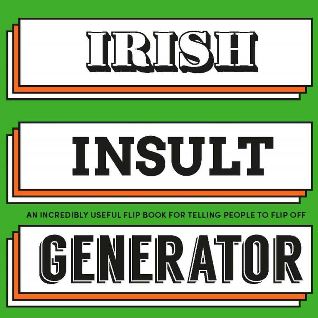 This Irish Insult Generator is one of the top Irish Christmas gift ideas on Amazon.