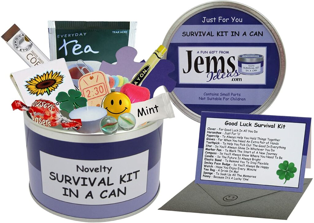 This survival kit in a can is such a novelty.