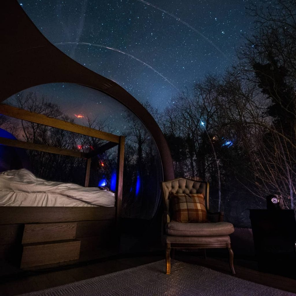 A relaxing stay at Finn Lough Bubble Dome.