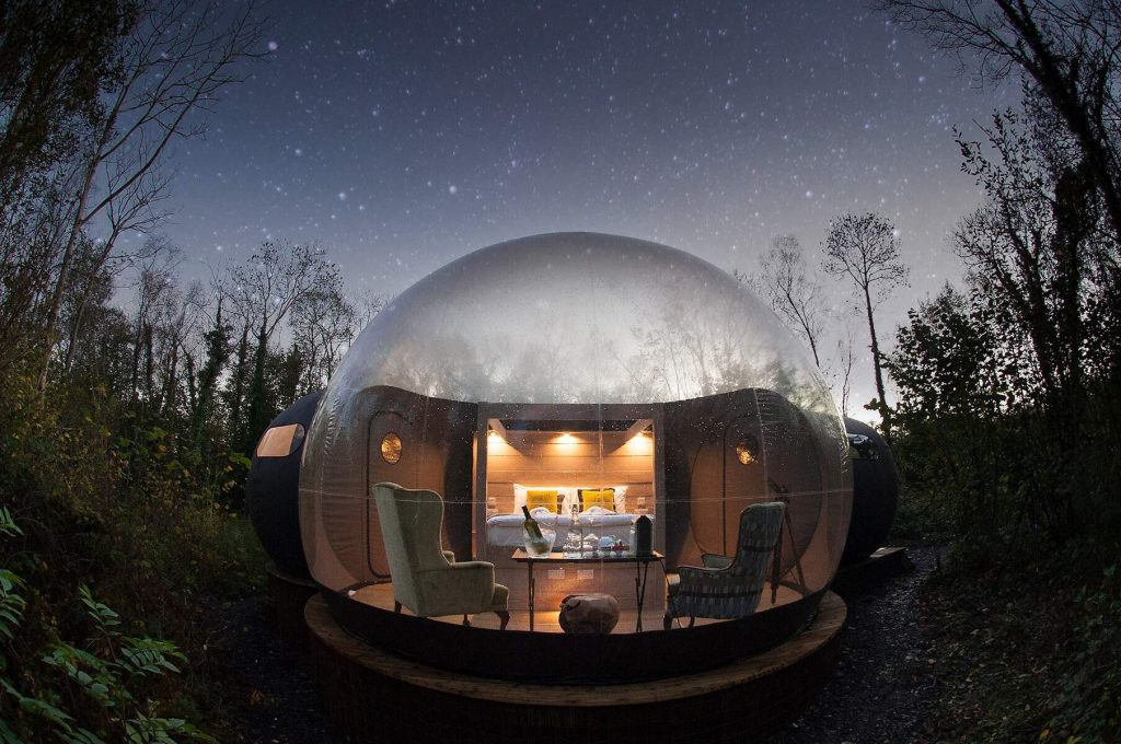 Finn Lough Bubble Dome is great for stargazing.