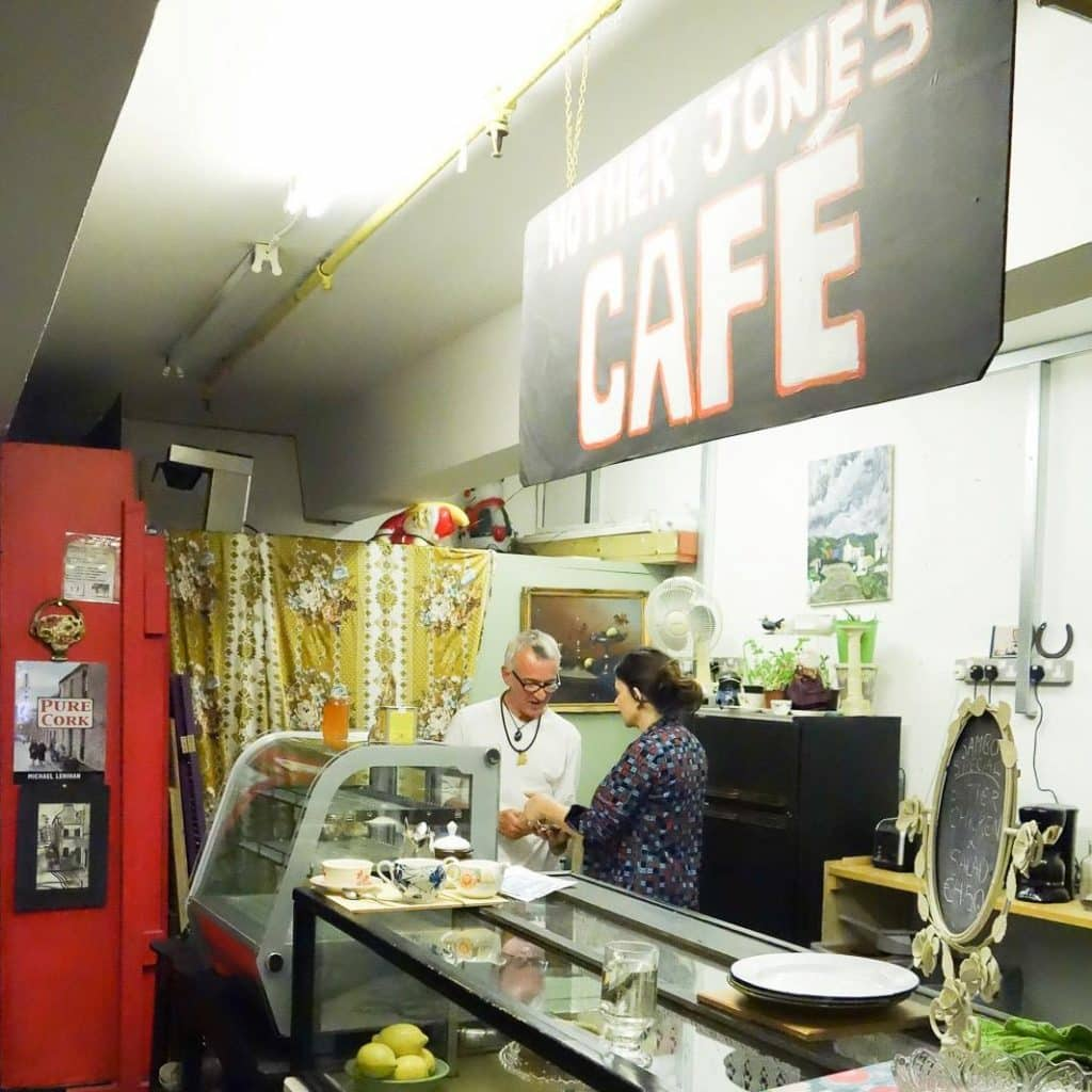 The cafe at Mother Jones' Flea Market is a great spot.