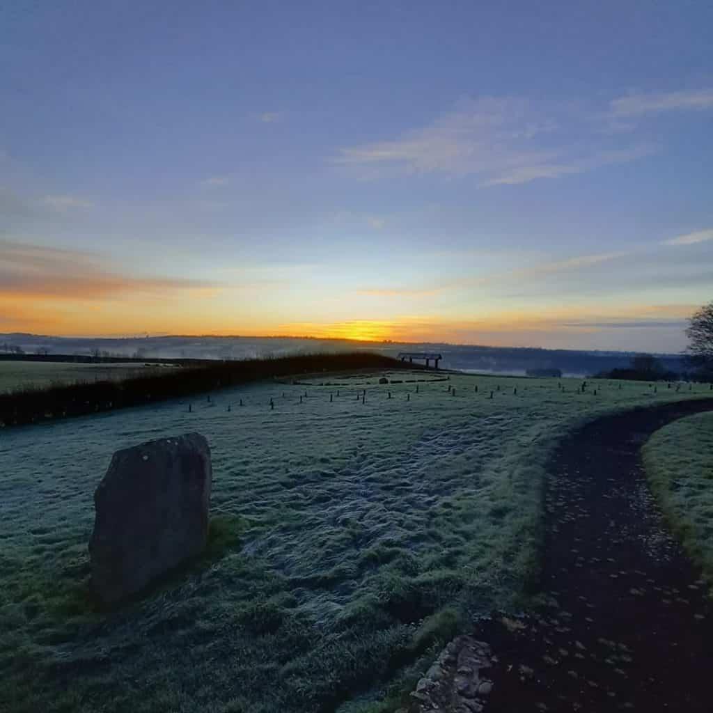Winter solstice sunrise at Newgrange.