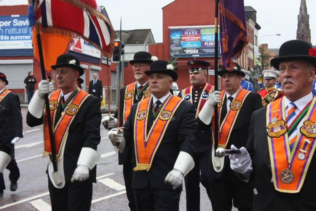 Visiting during the marching season is one of the things you should never do in Belfast.