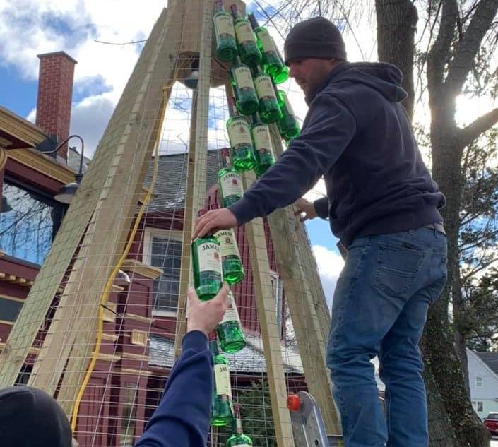 New York Irish pub creates Christmas tree out of Jameson bottles