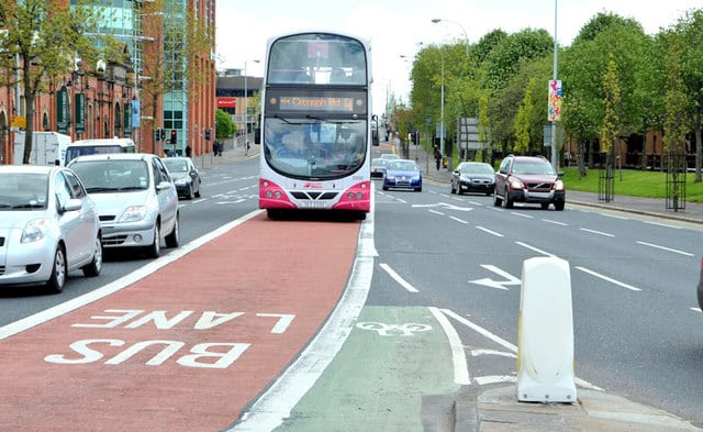 Don't drive in the bus lanes.