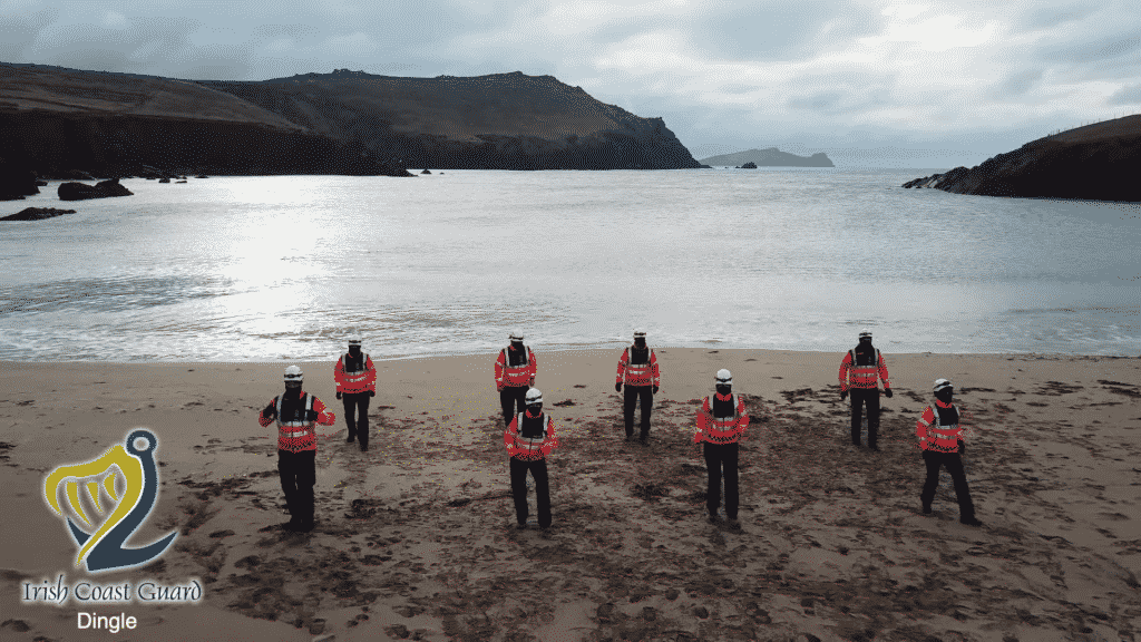 Dingle Coast Guard take on the Jerusalema dance trend.