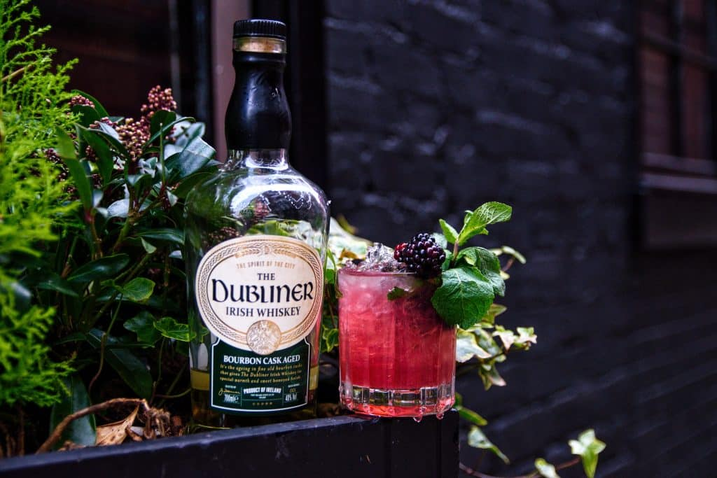 One of the Irish cocktails is a Blackberry Smash.