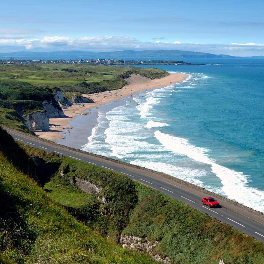 The Causeway Coastal Route is one of the Irish roads recognised as one of the best drives in the world.