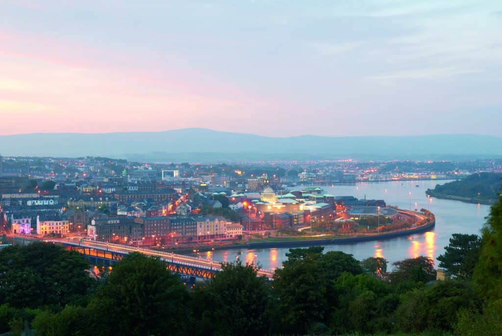 Derry is the walled city.